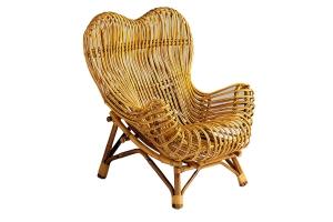 Кресло Мадонна CRUZO натуральный ротанг медовый kr0002