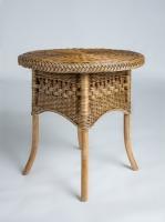 Приставний столик Вікторія CRUZO натуральний ротанг, коричневий, kk0444v