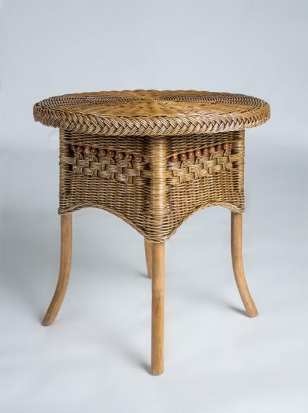 Приставной столик Виктория CRUZO натуральный ротанг, коричневый, kk0444v