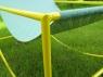 Кресло-шезлонг CRUZO металл желтый / голубой kr0001