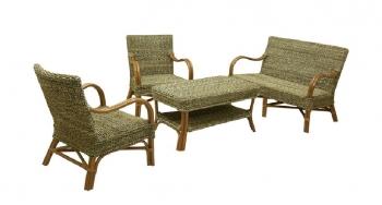 Комплект мебели Руди CRUZO натуральный ротанг / абака светло-коричневій ok00097