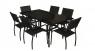 Обеденный комплект мебели для улицы Блэк Стил из металла черный os0001