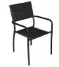 Обеденный комплект Блэк Стил (стол +6 стульев) металл черный, Cruzo™ ok0001