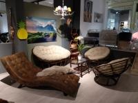 Комплект меблів для дому Папасан з натурального ротангу софа, 2 крісла і столик горіховий CRUZO d0420
