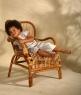 Крісло Плай CRUZO натуральний ротанг, світло-коричневий, kp0011