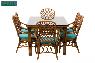 Обеденное кресло Феофания CRUZO натуральный ротанг, ореховый, fl0009