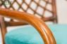 Обеденное кресло Феофания CRUZO натуральный ротанг ореховый fl0009