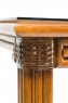 Обідній стіл Феофанія CRUZO натуральний ротанг, горіховий, fs0001