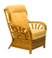 Кресло Аскания Премиум CRUZO натуральный ротанг, королевский дуб, as0011