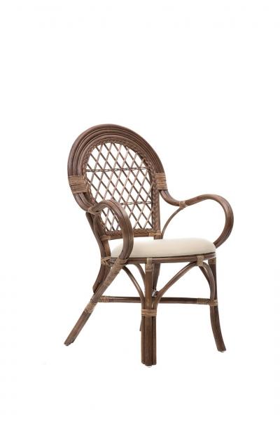 Кресло Бали CRUZO натуральный ротанг коричневый ba0001