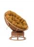 Кресло-качалка Папасан CRUZO натуральный ротанг коньяк pa0002