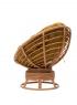 Крісло-гойдалка Папасан CRUZO натуральний ротанг, коньяк, pa0002