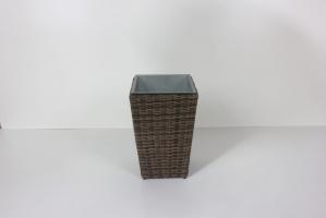 Цветник Астин CRUZO (маленький) искусственный ротанг, коричневый, dr0006