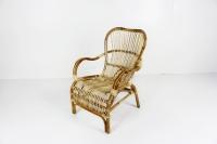 Кресло Плай CRUZO натуральный ротанг, светло-коричневый, kp0011