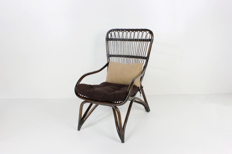 Крісло Дрім CRUZO натуральний ротанг, темно-коричневий, ok0032