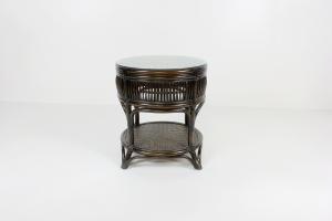 Кофейный столик Дрим CRUZO натуральный ротанг темно-коричневый ok0331
