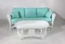 Комплект Сопрано CRUZO (диван, софа, кресло с пуфом и 2 столика) искусственный ротанг белый sp0001