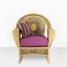 Кресло-качалка Ацтека CRUZO натуральный ротанг, светло-коричневый, ас0019