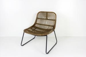 Кресло Конни CRUZO натуральный ротанг, коричневый, krk5588
