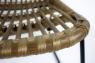 Крісло Конні CRUZO натуральний ротанг коричневий krk5588