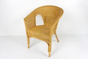 Кресло Келек CRUZO натуральный ротанг коньяк kl0010