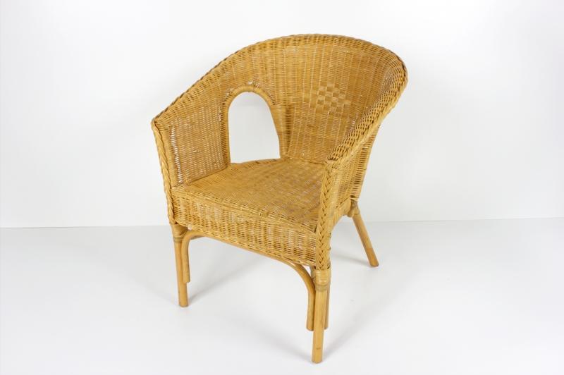 Кресло Келек CRUZO натуральный ротанг, коньяк, kl0010