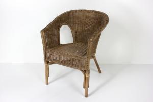 Кресло Келек CRUZO натуральный ротанг темно-коричневый kl0030