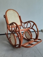 Кресло-качалка Свит CRUZO натуральный ротанг, коричневый, kk0423