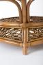 Кофейный столик Ацтека CRUZO натуральный ротанг, светло-коричневый, d00288