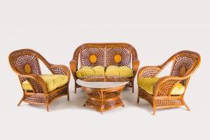 Комплект мебели CRUZO Ацтека натуральный ротанг королевский дуб d0020