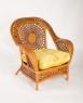 Комплект мебели CRUZO Ацтека (софа, 2 кресла и кофейный столик) натуральный ротанг, королевский дуб, d0020