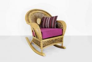 Кресло-качалка Ацтека CRUZO натуральный ротанг светло-коричневый ас0019