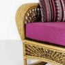 Крісло-гойдалка Ацтека CRUZO натуральний ротанг, світло-коричневий, ас0019