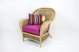 Кресло Ацтека CRUZO натуральный ротанг светло-коричневый d01283