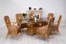 Обеденный комплект Ацтека CRUZO светло-коричневый (стол + 6 кресел), ok0028