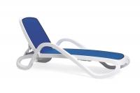 Шезлонг Nardi Alfa Bianco Blu 40416.00.112