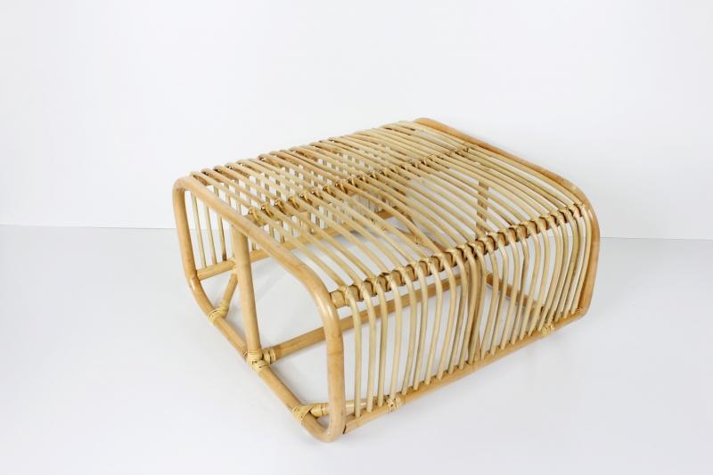 Кавовий столик Амелія CRUZO натуральний ротанг, медовий, sa02942.