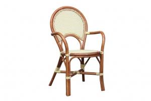 Крісло CRUZO Bistro Armchair 6 натуральний ротанг медовий kr0013