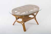 Обеденный стол Аскания CRUZO натуральный ротанг, королевский дуб, st0014