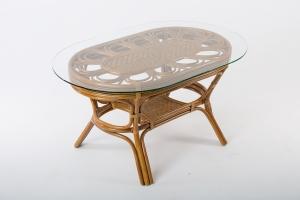 Обеденный столик CRUZO Аскания натуральный ротанг st0014
