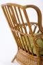 Плетеное кресло с пуфом Аскания CRUZO натуральный ротанг королевский дуб kr0023