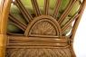 Кресло с пуфом CRUZO Аскания натуральный ротанг kr0023