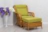 Плетеное кресло с пуфом Аскания CRUZO натуральный ротанг, королевский дуб, kr0023