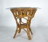 Обідній комплект Асканія CRUZO (стіл +4 стільця) натуральний ротанг королівський дуб ok0019
