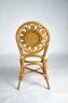 Обеденный комплект Аскания CRUZO (стол +4 стула) натуральный ротанг, королевский дуб, ok0019
