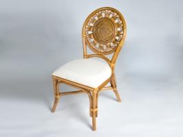 Обідній стілець Асканія CRUZO натуральний ротанг королівський дуб os210019