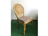 Обеденный стул Аскания CRUZO натуральный ротанг королевский дуб os210019