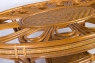 Угловой диван CRUZO Аскания с приставным столиком натуральный ротанг королевский дуб d0017