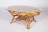 Угловой диван Аскания со столиком натуральный ротанг королевский дуб, Cruzo™, d0017