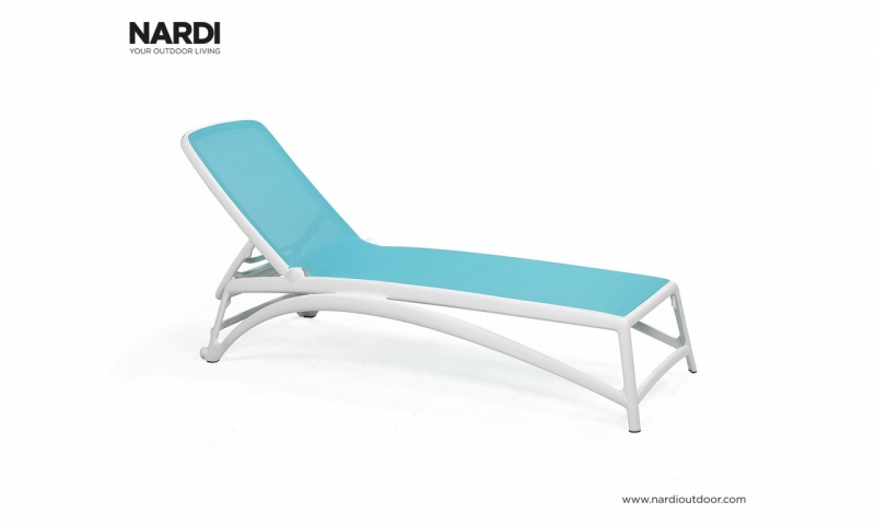 Шезлонг Nardi Atlantico Bianco Celeste 40450.00.075